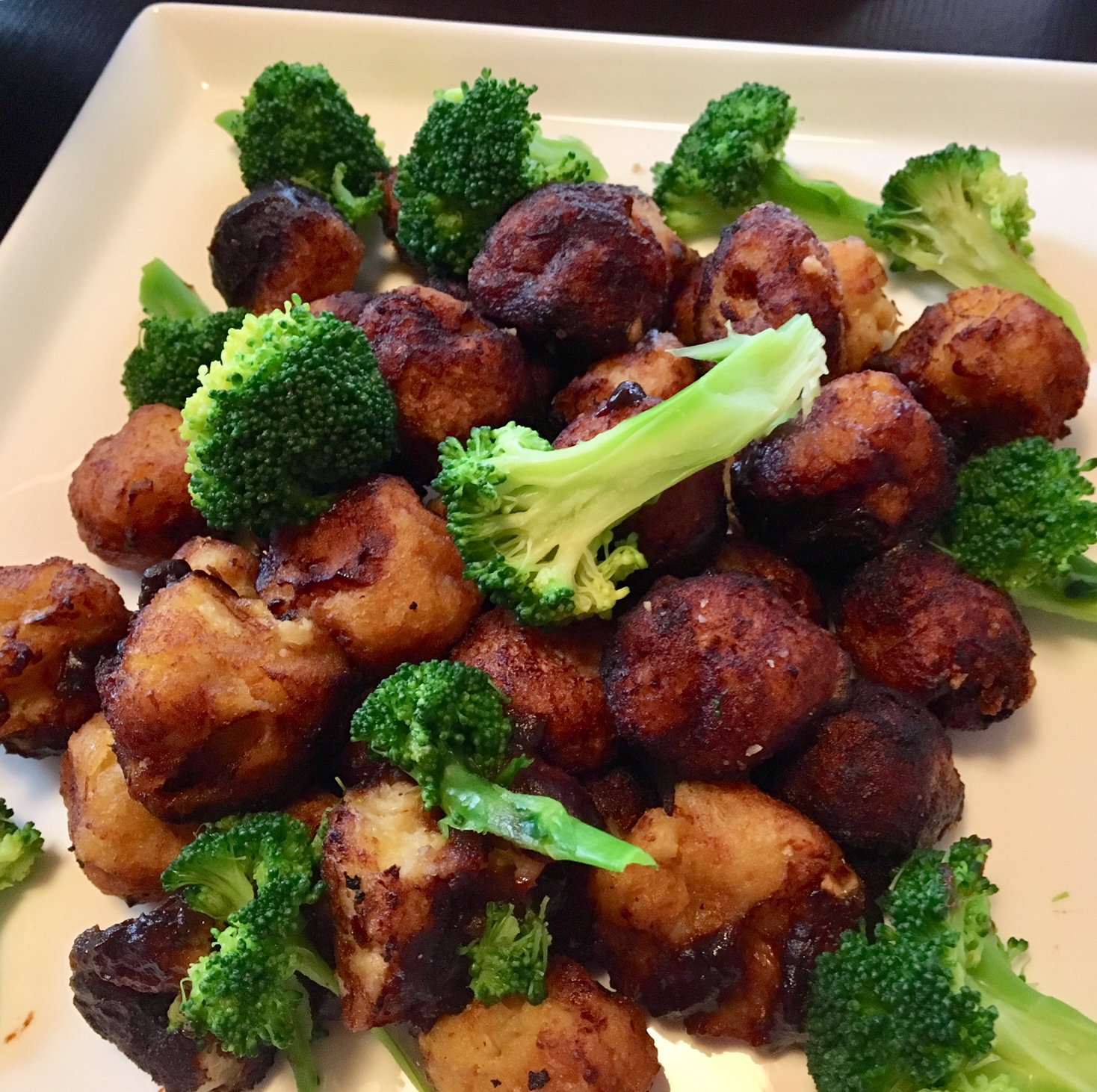 Stir-fried soybeans with broccoli